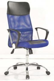 Стул офисный 8011-MSC синий с чёрным