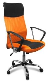 Стул офисный 8011-MSC оранжевый с чёрным