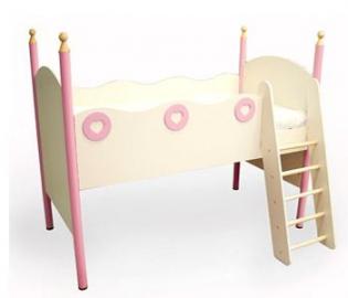 """Кровать """"Принцесса"""" с лесенкой правая"""