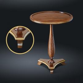 Стол кофейный из натурального дерева Zzibo, арт. 110 с золотом