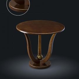 Стол кофейный из натурального дерева Zzibo, арт. 113 с золотом