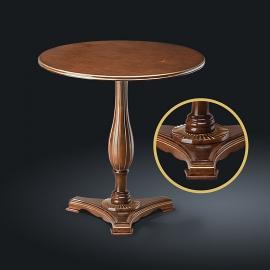 Стол кофейный из натурального дерева Zzibo, арт. 123 с золотом