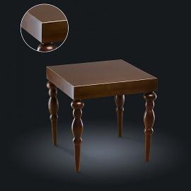 Стол кофейный из натурального дерева Zzibo, арт. 126 с золотом