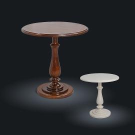 Стол кофейный из натурального дерева Zzibo, арт. 142 Слоновая кость