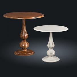 Стол кофейный из натурального дерева Zzibo, арт. 143 Орех с золотом