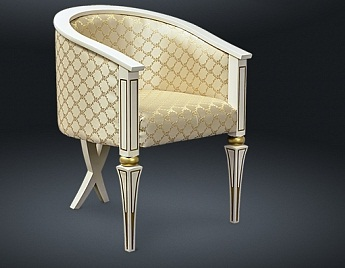 Кресло из натурального дерева Zzibo, Золотое