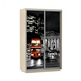 Шкаф-купе Дуо-двухдверный Лондон 1400 Ясень шимо светлый