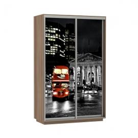 Шкаф-купе Дуо-двухдверный Лондон 1400 Ясень шимо темный