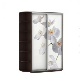 Шкаф-купе Дуо-двухдверный Орхидея 1400 Венге