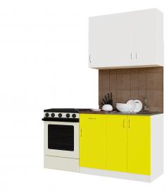 """Кухонный гарнитур San ГК1000 5.5.10.1 """"Белый/Желтый"""""""