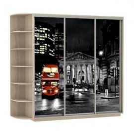 Шкаф-купе Трио-трехдверный Лондон Ясень шимо светлый