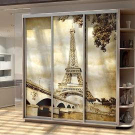 Шкаф-купе Трио-трехдверный Париж Ясень шимо светлый