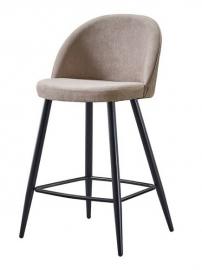 Полубарный стул ESF 373B-2 Dark beige&Black