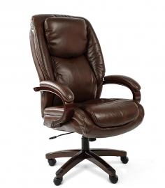 Кресло руководителя CHAIRMAN 408 коричневое