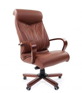 Кресло руководителя CHAIRMAN 420 WD коричневое