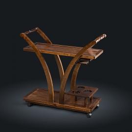 Стол сервировочный из натурального дерева Zzibo