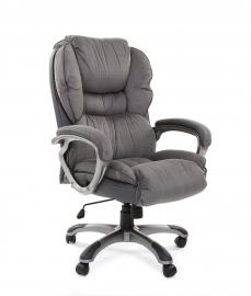 Кресло руководителя CHAIRMAN 434 серый вельвет