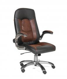 Кресло руководителя CHAIRMAN 439 PU черный/MF коричневый