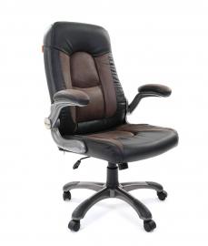 Кресло руководителя CHAIRMAN 439 PU черный/MF бежевый
