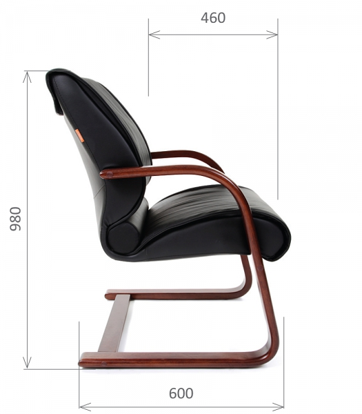 Кресло для посетителей CHAIRMAN 445 WD коричневое