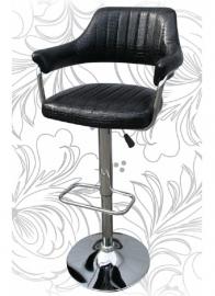 Барный стул 5019 чёрный крокодил