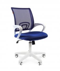 Кресло оператора CHAIRMAN 696 white сетка синяя