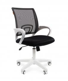 Кресло оператора CHAIRMAN 696 white сетка чёрная