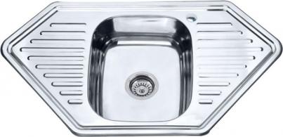 Кухонная мойка врезная трапеция 95х50