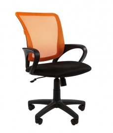 Кресло оператора CHAIRMAN 969 black сетка оранжевая
