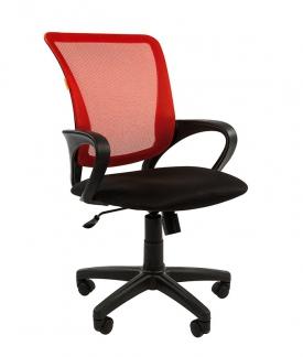 Кресло оператора CHAIRMAN 969 black сетка красная