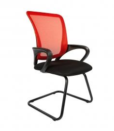 Кресло для посетителей CHAIRMAN 969 V сетка красная