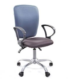 Кресло оператора CHAIRMAN 9801 ткань серая/голубая