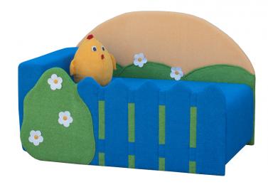 Диван детский Клевер 20 Цыплёнок синий