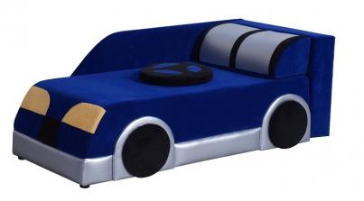 Диван детский Клевер 22Н Машина синяя