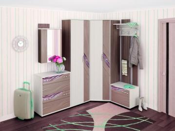 Угловой набор мебели для прихожей Лаура 5