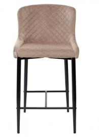 Полубарный стул ARTEMIS бежевый, велюр