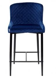 Полубарный стул ARTEMIS глубокий синий, велюр