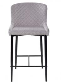 Полубарный стул ARTEMIS серый, велюр