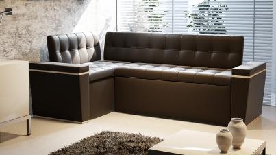 Скамья угловая со спальным местом «Брайтон» коричневый