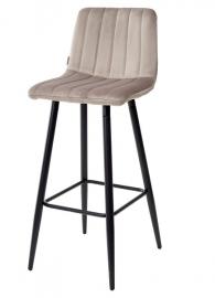 Барный стул DERRY кварцевый, велюр