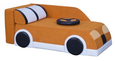 Диван детский Клевер 22Н Машина оранжевая
