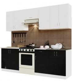 "Кухонный гарнитур San ГК2400 5.5.7.2 ""Белый/Черный"""