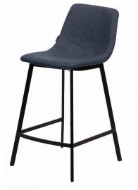 Барный стул HAMILTON синяя сталь PU