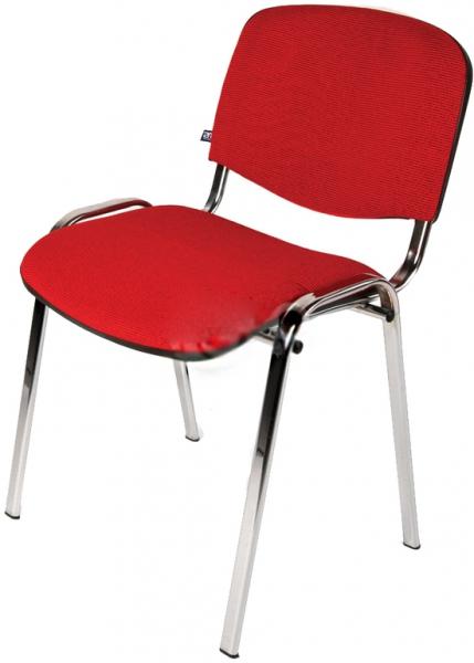 Компьютерный стул ИЗО красный (хром) комплект 5 шт