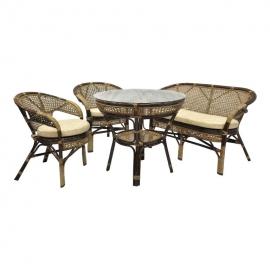 Комплект обеденный Java 2 стула+диван