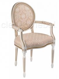 Кресло Данте молочный с патиной