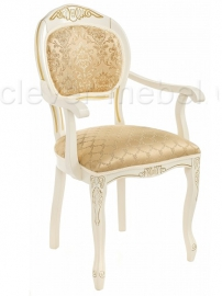Кресло Лауро молочный с патиной