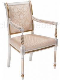 Кресло Рембрандт молочный с патиной