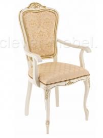 Кресло Руджеро молочный с патиной