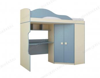 Кровать-чердак Радуга+шкаф угловой